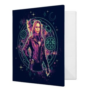 Captain Marvel   Galactic Goose & Carol Graphic 3 Ring Binder