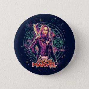 Captain Marvel   Galactic Goose & Carol Graphic Button