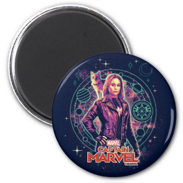 Captain Marvel   Galactic Goose & Carol Graphic Magnet