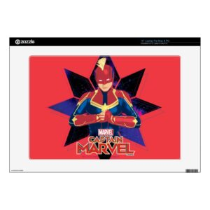 "Captain Marvel | Galactic Star Character Graphic 15"" Laptop Decal"