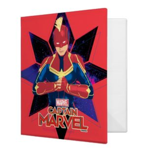 Captain Marvel | Galactic Star Character Graphic 3 Ring Binder