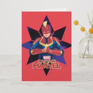 Captain Marvel | Galactic Star Character Graphic Card