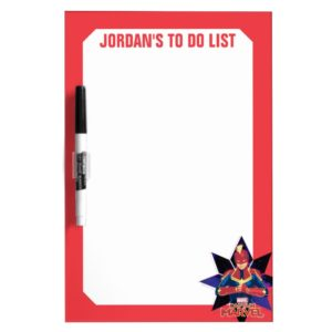 Captain Marvel   Galactic Star Character Graphic Dry Erase Board
