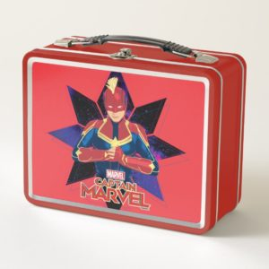 Captain Marvel   Galactic Star Character Graphic Metal Lunch Box