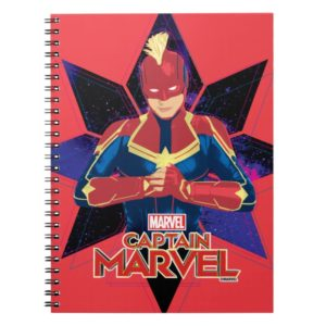 Captain Marvel | Galactic Star Character Graphic Notebook