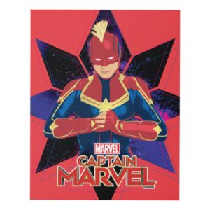 Captain Marvel | Galactic Star Character Graphic Panel Wall Art