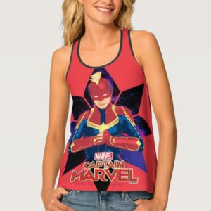 Captain Marvel | Galactic Star Character Graphic Tank Top
