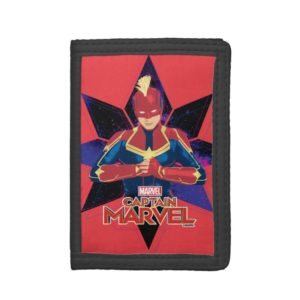 Captain Marvel   Galactic Star Character Graphic Trifold Wallet