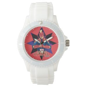 Captain Marvel   Galactic Star Character Graphic Watch