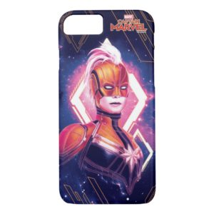 Captain Marvel | Glowing Galaxy Pattern Case-Mate iPhone Case
