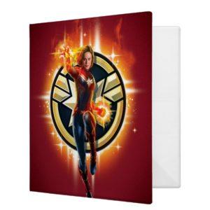 Captain Marvel | Glowing Photon Energy 3 Ring Binder