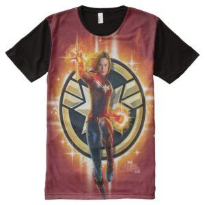 Captain Marvel | Glowing Photon Energy All-Over-Print Shirt