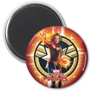 Captain Marvel | Glowing Photon Energy Magnet