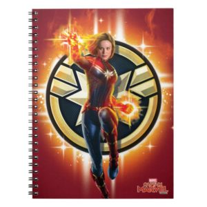 Captain Marvel | Glowing Photon Energy Notebook