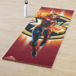 Captain Marvel | Glowing Photon Energy Yoga Mat