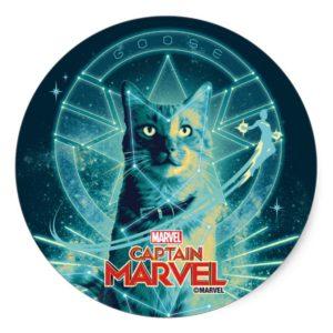 Captain Marvel | Goose Constellation Graphic Classic Round Sticker