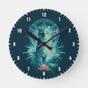 Captain Marvel | Goose Constellation Graphic Round Clock