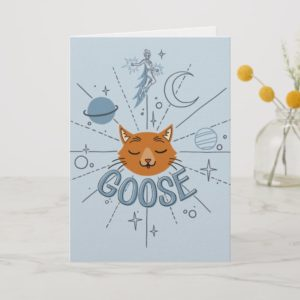 Captain Marvel | Goose In Space Illustration Card
