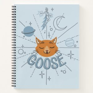 Captain Marvel | Goose In Space Illustration Notebook