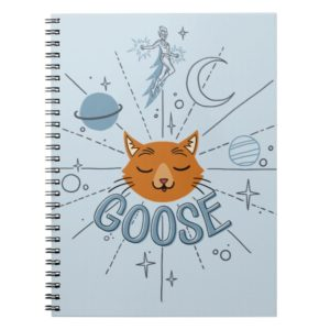 Captain Marvel   Goose In Space Illustration Notebook