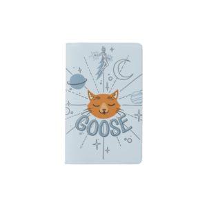Captain Marvel | Goose In Space Illustration Pocket Moleskine Notebook
