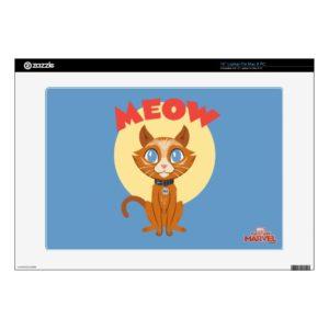 "Captain Marvel | Goose ""Meow"" Illustration 15"" Laptop Decal"