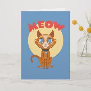 "Captain Marvel | Goose ""Meow"" Illustration Card"
