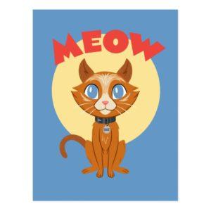"Captain Marvel | Goose ""Meow"" Illustration Postcard"