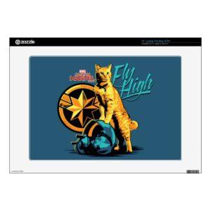 "Captain Marvel | Goose on Helmet ""Fly High"" 15"" Laptop Decal"