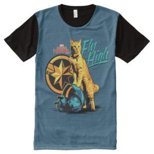 "Captain Marvel | Goose on Helmet ""Fly High"" All-Over-Print Shirt"