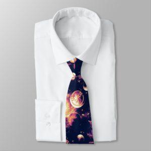 Captain Marvel | Goose Planetary Pattern Neck Tie