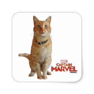 Captain Marvel | Goose Sitting Up Square Sticker