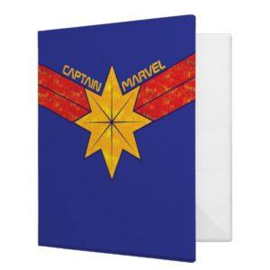 Captain Marvel | Hala Star Symbol 3 Ring Binder