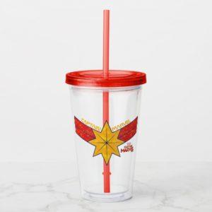 Captain Marvel | Hala Star Symbol Acrylic Tumbler