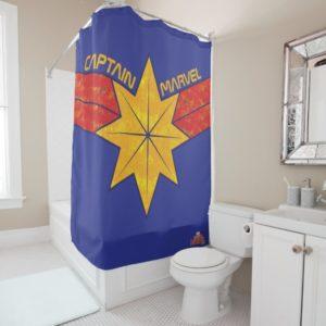 Captain Marvel | Hala Star Symbol Shower Curtain