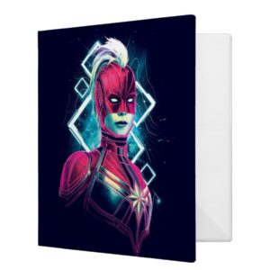 Captain Marvel | High Tech Glowing Character Art 3 Ring Binder