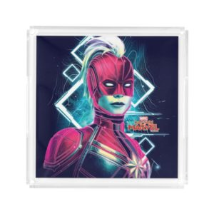 Captain Marvel | High Tech Glowing Character Art Acrylic Tray
