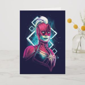 Captain Marvel | High Tech Glowing Character Art Card