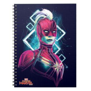Captain Marvel | High Tech Glowing Character Art Notebook
