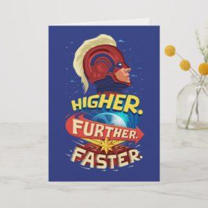 Captain Marvel   Higher, Further, Faster Card