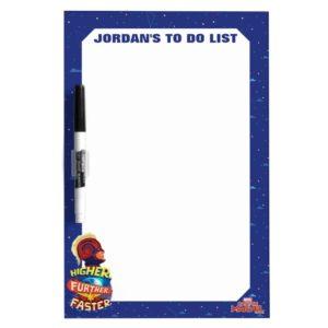 Captain Marvel   Higher, Further, Faster Dry Erase Board