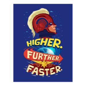 Captain Marvel   Higher, Further, Faster Postcard