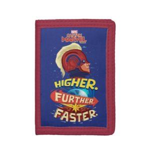 Captain Marvel | Higher, Further, Faster Trifold Wallet