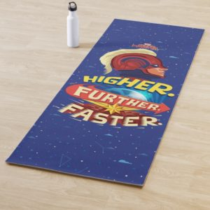Captain Marvel | Higher, Further, Faster Yoga Mat
