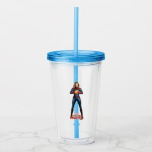 Captain Marvel | Holding Fist Character Art Acrylic Tumbler