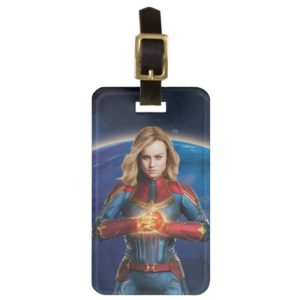 Captain Marvel | Holding Fist Character Art Bag Tag