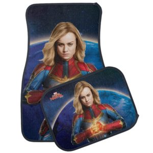 Captain Marvel | Holding Fist Character Art Car Floor Mat