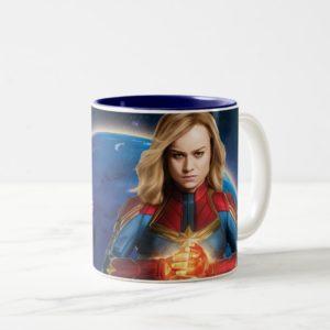 Captain Marvel | Holding Fist Character Art Two-Tone Coffee Mug