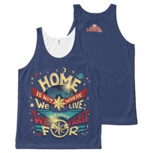 Captain Marvel | Home Is Not Where We Live All-Over-Print Tank Top