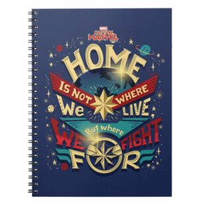 Captain Marvel | Home Is Not Where We Live Notebook